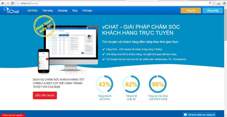 vChat – công cụ chat trực tiếp với khách hàng trên website